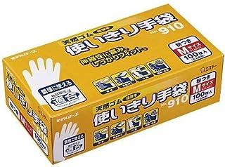 エステー ラバー ディスポ 手袋 No.910(100枚入)M