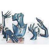 JIAGU Soporte de joyería 5 Piezas Set Colgante de Collar Pendiente de la Pulsera de los Anillos Organizador sostenedor de la exhibición de la joyería están for Las Decoraciones
