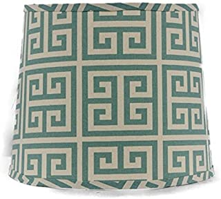 AHS Lighting SD1436-11WS Greek Key Square Lamp Shade with Washer, 11