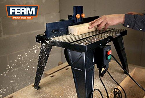 FERM PRA1011 Oberfräsetisch – Mit Staubsaugeranschluss -Verstellbare Winkelführung – Universal: für Oberfräser mit Standfuß bis 162 mm - 2