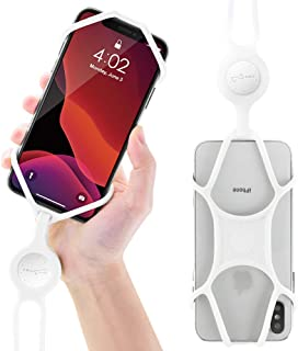 Universal Cell Phone Lanyard Holder, Silicone Neck Strap Smartphone Case for iPhone Xs Max XR X 8 7 6S Plus Samsung Galaxy S10 S9 S8 Note 9 Pixel 3 XL, Phone Tie Series (White)