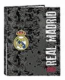 Safta Real Madrid Black Carpeta Fº 4 Anillas
