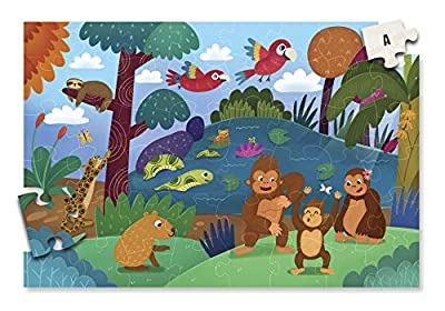 A2PLAY USA Innovative 48 Piece Floor Puzzle for Kids & Treasure Map System, Jigsaw Puzzles for Kids, Toddlers, Preschool Age 3,4,5,6, Extra Large Childrens Puzzles (2 x 3 feet Long)