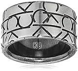CK anillos Mujer acero inoxidable circón redondo