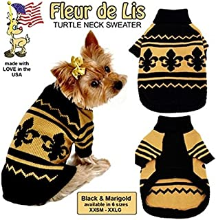 Pet Flys Fleur De Lis Pet Sweater, XX-Large