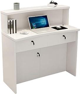 AWYJ Bureau de réception Magasin de vêtements Bureau de réception en Bois Caisse enregistreuse Stand d'accueil à 3 Tiroirs...