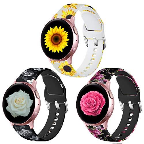Lerobo - Correa de repuesto de silicona para Galaxy Watch Active 2, 40 mm, 44 mm, 20 mm, para Galaxy Actie/Galaxy Watch 42 mm/Gear S2 Classic/Gear Sport Smart Watch para mujeres y hombres