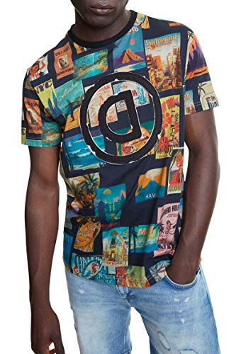 Desigual Camiseta Logan Negra para Hombre.