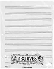 Archivos Manuscript Looseleaf hojas de papel (50hojas)