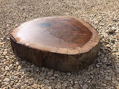 10 platen van eikenhout, waterafstotend, om neer te zetten op zand- of cementbedden – diameter 30 – 50 cm – dikte 10 cm.