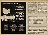 World of Art Global Konzert-Poster, Vintage-Stil,