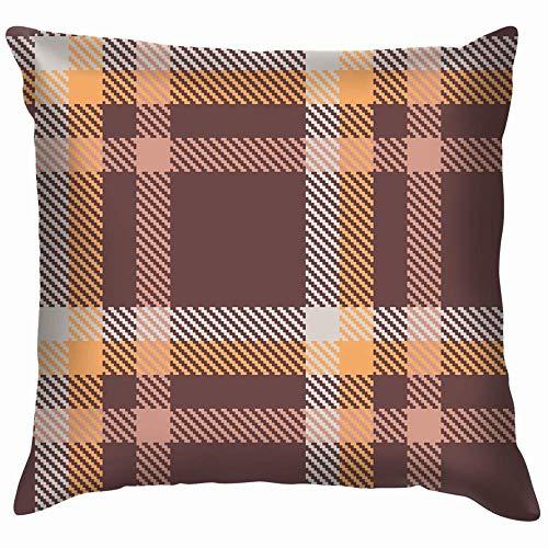 Jopath Fundas de almohada para sofá de casa y sofá, color marrón, naranja, 50 x 50 cm