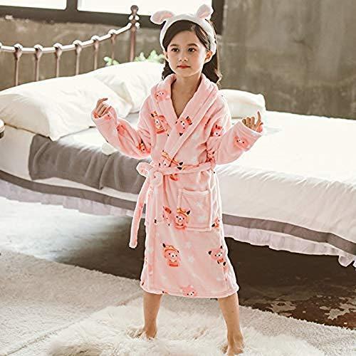 Uymkjv Albornoces Pijamas Pijamas Sudaderas con Capucha de Dibujos Animados niñas niños Pijamas Toallas de baño Pijamas de Albornoz Suave