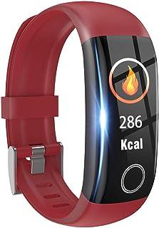 FJLOVE Reloj Inteligente Mujer y Hombre, Smartwatch Impermeable IP67 Pulsera Actividad Deportivo con Monitor de Sueño,Pulsómetro,0.96 Inch Pantalla Táctil Completa Hombre Mujer para iOS y Android