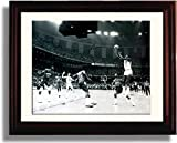 Framed Michael Jordan Championship Shot Autograph Replica Print - North Carolina Tarheels