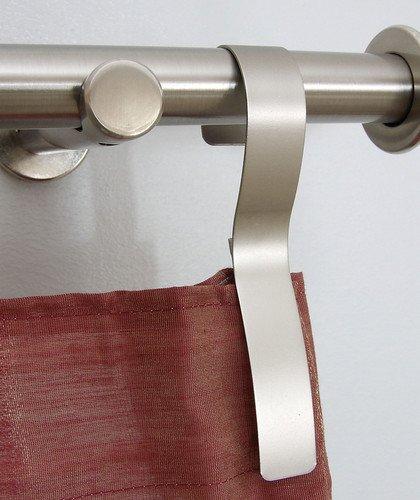 Cobra-Haken Gardinenhaken silber / chrom Dekohaken Gardinendekoration Feststellhaken für Gardinen