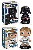 Funko POP! Star Wars: Darth Vader & Luke Skywalker - Vinyl Bobble-head Set NEW...