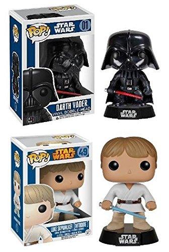 Funko POP! Star Wars: Darth Vader & Luke Skywalker - Vinyl Bobble-head Set NEW