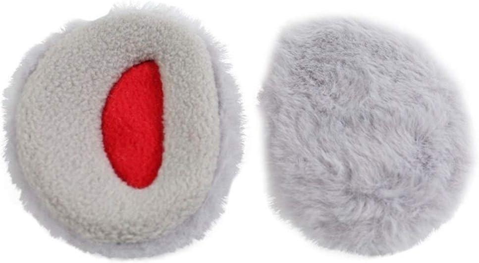 ZYXLN-Earmuffs,Bandless Ear Warmers Ear Muffs for Men & Women Fleece Bandless Ear Warmers Earmuffs Winter Ear Covers Outdoor Fleece Ear Muffs for Men Women Kids (Color : Light Gray, Size : L)