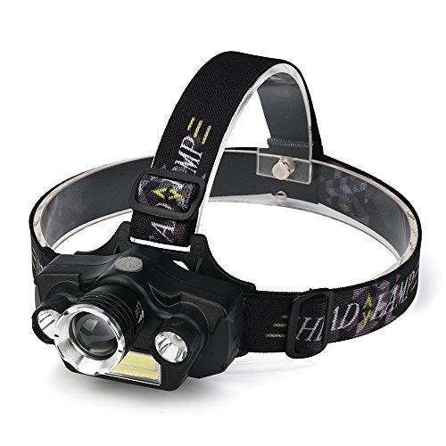USB oplaadbare koplamp zaklamp verlichting 4-licht Super Bright Outdoor Camping Jacht Vissen koplamp, Helder 5-Mode-LED-koplamp lichtgewicht LED-koplamp