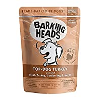 85% FREE-RUN TURKEY AND CHICKEN- Our Top Dog Turkey wet dog pouches use top quality turkey and chicken blended with garden veg and herbs to create a tail-waggingly good turkey dinner for your furry friend to enjoy NATURAL INGREDIENTS - This dog meat ...