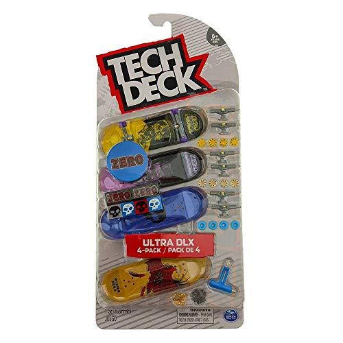 TECH DECK Zero Skateboards 2020 Ultra DLX 4-Pack Fingerboards