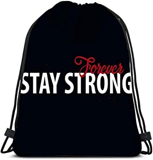 Drawstring Backpack Bags Sports Cinch Motivation Quote Stay Strong Design Concept For School Gym