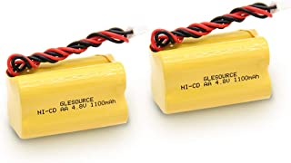 GLESOURCE BL93NC487 Battery 4.8v Emergency Exit Sign Battery Light Fixture Ni-Cd Battery 1100mAh Compatible with BAA48R Emerlight Daybright at-Lite BL93NC484 BL93NC485 4-TD-800AA-HP