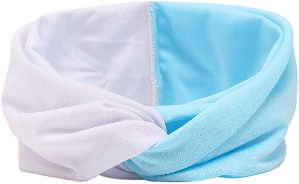 LOKODO Women Double Color Cross Wicking Sweatband Turban Headscarf