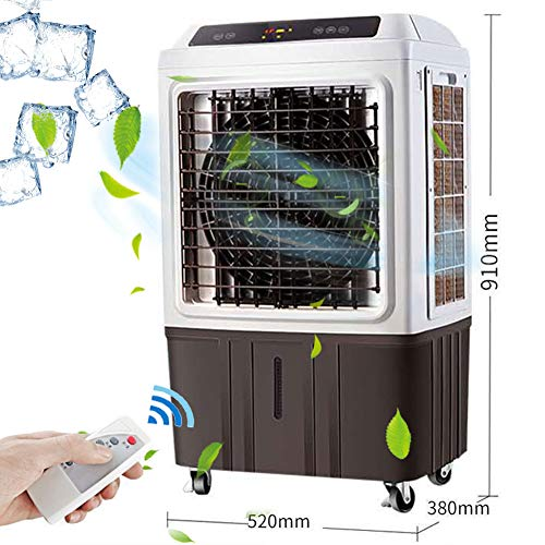 Lapden Indoor Outdoor Evaporative Air Cooler - 3 Modes/Speeds, Portable Air Conditioner Swamp cooler with Fan & Humidifier for Factory, Restaurant,Remote