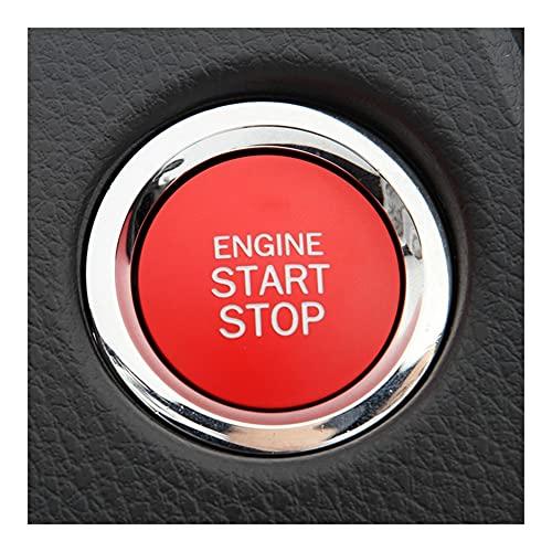 Inicio del automóvil Parada del Motor Encendido Pulsador de Encendido Cubierta de Estilo Compatible con Lexus Compatible con Toyota Land Cruiser (Color Name : A)