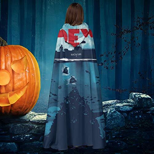 NULLYTG Dex Dexter Jaws Mashup Unisex Navidad Halloween Bruja Caballero con Capucha Bata de Vampiro Capa de Disfraz de Cosplay