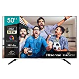 Hisense 50E76GQ QLED 2021 Gaming Series, 50 pulgadas 4K UHD Dolby Vision HDR Smart TV con Youtube, Netflix, Freeview Play y Alexa Built-in, HDMI 2.1, Bluetooth, certificación TÜV