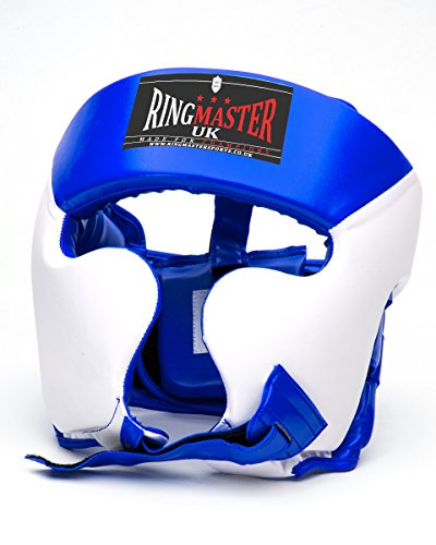 Ringmasteruk - Copricapo per arti marziali da bambini - caschetto da boxe MMA kickboxing, Bambino, Blue
