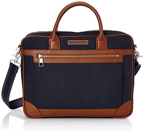 Tommy Hilfiger Patrick Computer Bag BM56927489 Herren Henkeltaschen 40x31x7 cm (B x H x T), Blau (Midnight/Summer Cognac 403)