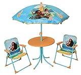 Fun House 713003 DISNEY VAIANA Salon de Jardin pour Enfant avec table, 2 chaises et 1 parasol