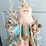 JCZR Vassoio con Babbo Natale Decorazione Natalizia Maggiordomo di Babbo Natale Dipinto a Mano con Vassoio Resina Pupazzo di Neve Porta dolcetti Figura di Babbo Natale -D