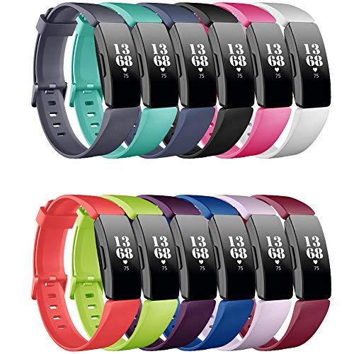 FunBand Fitbit Inspire & Inspire HR Correa,Edición Especial Soft Silicona Deportes Recambio de Pulseras Ajustable Reemplazo Accesorios Compatible para Reloj Fitbit Inspire & Inspire HR