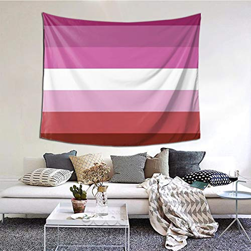 Ozngeer Solid Lipstick Lesbian Pride Flag Printed Tapestry, Stylish Tapestry, Wall Hanging, Home Decoration-Extra Large Tablecloth 60 X 51 Inch Bedroom Living Room Dormitory Room