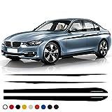 SLONGK Tür Seitenstreifen Rock Aufkleber Taille Linie Körper Aufkleber M Leistung, Für BMW 3er F30 F31 320i 328i 330i 335i 318d 320d 330d