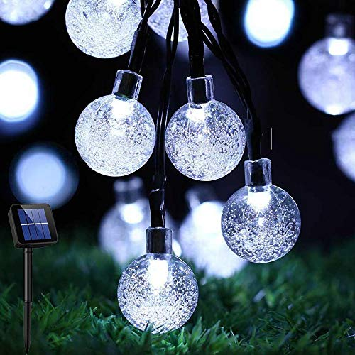 Solar Lights Outdoor Garden Lights Solar Powered 23ft 50 LED Fairy Lights 8 Modes Auto On/Off Outdoor Christmas Lights Waterproof Globe String Lights for Garden Gazebo Patio Party Xmas Tree Ulanox
