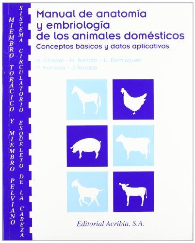 Manual de anatomía y embriología de los animales doméstic