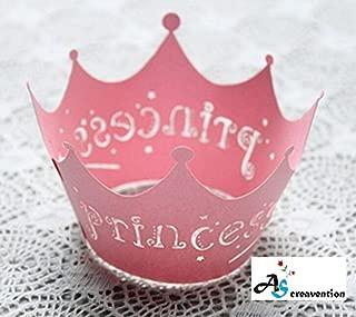 A&S Creavention Vine Cupcake Holders Filigree Vine Designed Decor Wrapper Wraps Cupcake Muffin Paper Holders - 50pcs, Pink (50, Princess)