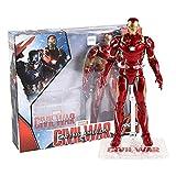 YSYSPUJ Action Figure Iron Man Capitan America America Ant-Man Hulk Spiderman Thanos Black Widow Panther Scarlet Witch Falcon Action Figure Toy Modello di Bambola (Color : Iron Man)