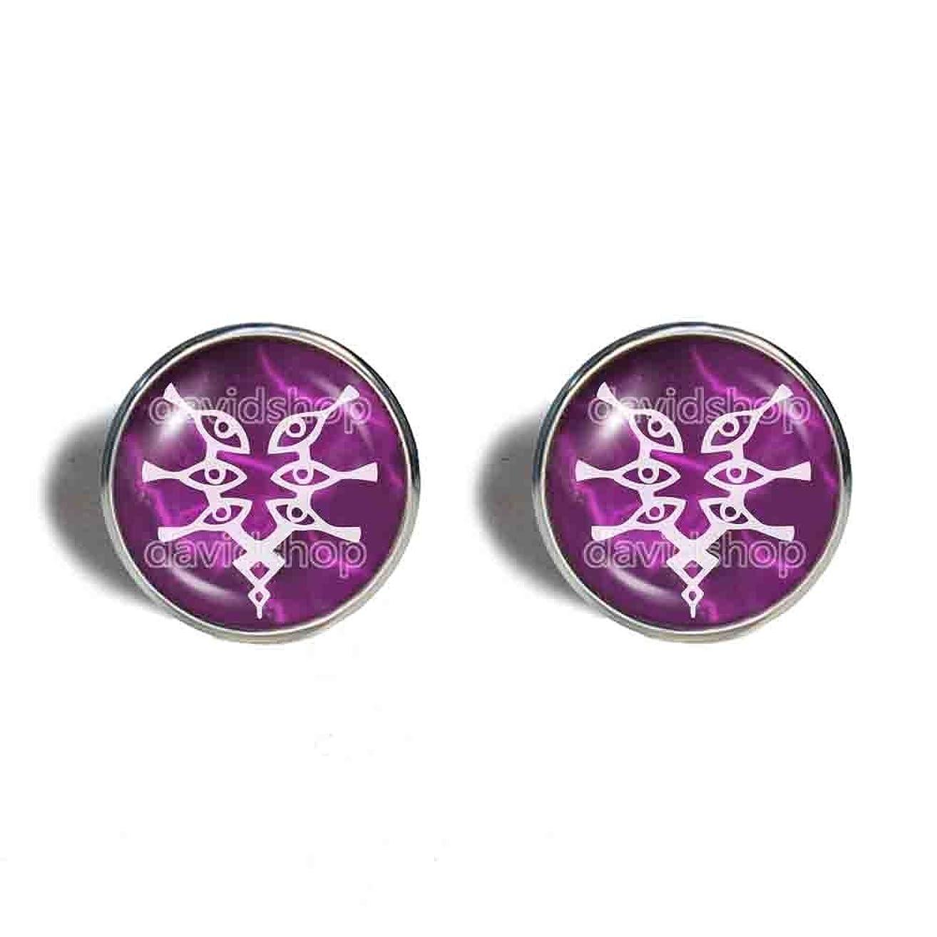 Handmade Fashion Jewelry Cute Gift Awakening Symbol Fire Emblem Grima Cufflinks Cuff links Cosplay White