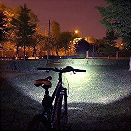 SMALLBABOON Mountain Bike Riding LED Lamps Set - 5 Domestic T6 Lamp Beads, Bicycle Lights Built-in Dual MOS Protection IC, Anti-Overcharge and Overdischarge, IPX-5 Waterproof, 3 Gears Lighting (A)