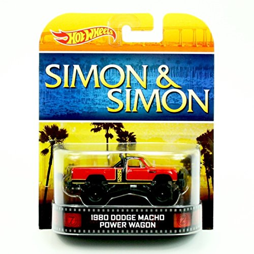 1980 DODGE MACHO POWER WAGON SIMON & SIMON Hot Wheels 2013 Retro Series Die Cast Vehicle