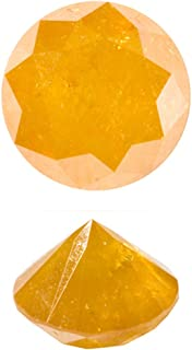 1.99-2.00 Cts of 7.5x7.5 mm I3 Quality Round Natural Brownish Golden Yellow Diamond (1 pc) Loose Diamond
