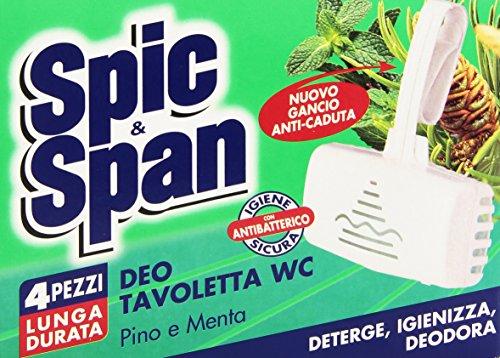 Spic&Span - Deo Tavoletta WC, Pino e Menta, 4 Pezzi