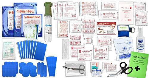 Erste Hilfe FÜLLUNG Gastro für Betriebe DIN/EN 13157 Plus 2 INKL. Augenspülung + Brandgel + detektierbare Pflaster + Hydrogelverbände + Antisept-Hygiene-Spray